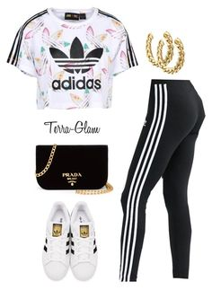 """Adidas Diva"" by terra-glam ❤ liked on Polyvore featuring adidas Originals, adidas and Prada"