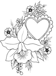 pergamano - Page 14 Love Coloring Pages, Animal Coloring Pages, Printable Coloring Pages, Coloring Books, Flower Embroidery Designs, Embroidery Patterns, Parchment Design, Free Adult Coloring, Parchment Cards