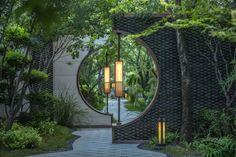 Awesome garden entrance decoration ideea for those who like the eastern style pergola entrance Garden Entrance