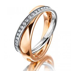 MEISTER Rings - Womens-Collection redgold / platinum | MEISTER