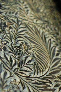 William Morris woodblock for wallpaper print