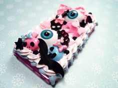 Sweet and Spooky Kawaii Decoden Case for iPhone 4 by Lucifurious, $36.00
