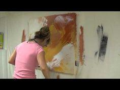 Abstract Art Painting Demo - Original by Shari Kreller - YouTube