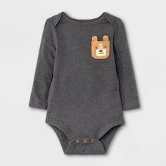 Pocket Cat, Boho Baby Clothes, Long Sleeve Bodysuit, Simple Dresses, Fitness Fashion, Gray Color, One Piece, Pullover, Sleeves