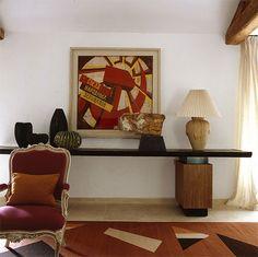 Chester Jones: The sitting room, house in France