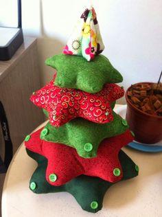 Stella Hoff Patchwork: Árvore de Natal- PAP/ Tutorial