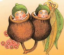 Snuggle-pot and Cuddle-pie Vintage Fairies, Pen And Watercolor, Little Birds, Australian Artists, Magical Creatures, Illustrations, Print Pictures, Faeries, Animal Drawings
