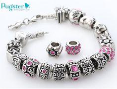 #pugster #birthstone charm  # bracelet  #fashion jewelry  #pinky pandora style beads  With pugster, creating your own first bracelet.