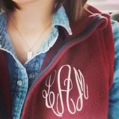 Monogrammed Fleece Vests are perfect to keep warm this fall!