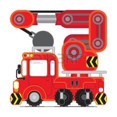 rescue car vector cartoon cutie Stock Vector