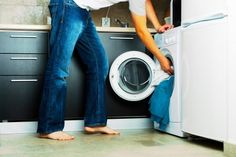 Photo about Concept Man putting his laundry into the washing machine. Image of dirty, jeans, laundry - 3686908 Doing Laundry, Laundry Hacks, Laundry Room, Diy Cleaning Products, Cleaning Hacks, Cleaning Solutions, Shrink Jeans, Smelly Washing Machines, Home Remedies