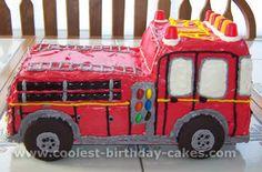 Coolest Kids Cakes – Web's Largest Homemade Birthday Cake Photo Gallery Harry Birthday, Firefighter Birthday, Diy Birthday Cake, Homemade Birthday Cakes, Boy Birthday, Birthday Ideas, Birthday Board, Fireman Kids, Fireman Sam Cake