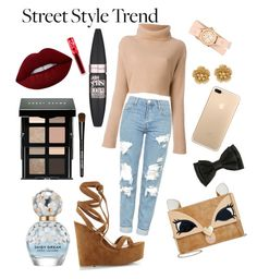 """""""Lace It Up - Cream beauty"""" by ellenannh ❤ liked on Polyvore featuring Gianvito Rossi, Topshop, Michele, Miriam Haskell, Betsey Johnson, Bobbi Brown Cosmetics, Maybelline, Lime Crime and Marc Jacobs"""