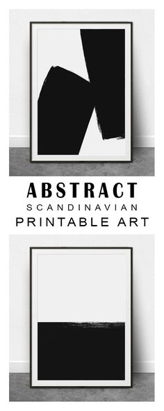Really love these Scandinavian Modern, Minimalist, Black and White Prints. Download instantly and print from home! Printable Wall Art Abstract, Minimalist Art, Abstract Painting, Digital Print, Black and White Print, Abstract Shapes, Modern, Chic, Scandi #etsy #etsysellers #ad
