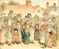 Kate Greenaway 1910 from The Marigold Garden - Street Show