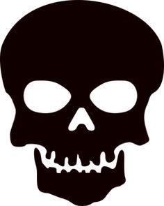 Black and white illustration of Halloween skull. Halloween Silhouettes, Halloween Clipart, Halloween Skull, Fall Halloween, Skull Stencil, Skull Art, Calavera Simple, Skull Template, Skull Silhouette