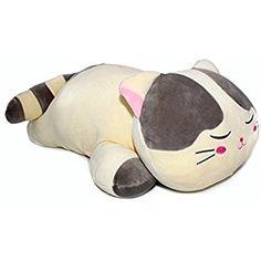 "Vintoys Very Soft Cat Big Hugging Pillow Plush Kitten Kitty Stuffed Animals Gray 23.5"""