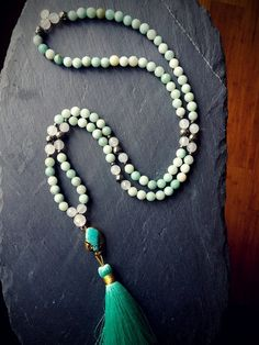 """ON SALE NOW 50% OFF -Compassionate Truth Mala """"EXPRESS YOUR TRUTH & COMPASSION WITH HARMONY MALA""""! #malabeads"""