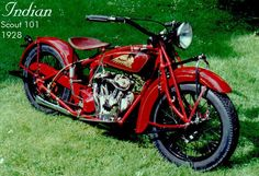 indian scout 1928 by ala Santellana Indian Motorbike, Vintage Indian Motorcycles, Vintage Bikes, Indian Scout, Indian Cycle, Rockabilly Cars, Motorcycle Style, Up Girl, Cool Bikes