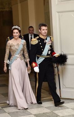 Crown Prince Frederik and Mary attend the gala dinner for Queen Margrethe's 75th birthday 4/15/2015
