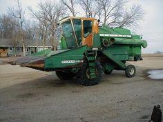 Antique Tractors - Oliver 5555 Combine
