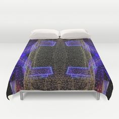Buy ultra soft microfiber Duvet Covers featuring City Synthesis by RichCaspian. Hand sewn and meticulously crafted, these lightweight Duvet Cover vividly feature your favorite designs with a soft white reverse side. #duvet #cover #blanket #homedecor #bedroom #bed #bedding #bedroomdecor #dorm #dormify #scifi #scify #glow #neon
