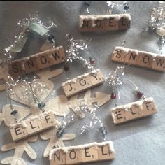 Scrabble Tile Christmas decoration  ~homemade by Karen~