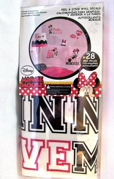 Wall Decals Minnie Mouse Disney Peel And Stick Set Of 28 Removable Wall Art #York