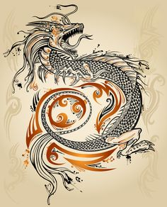 Tattoo Dragon by ErikDePrince.deviantart.com on @deviantART