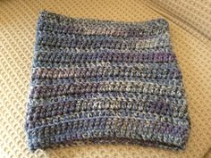 Crochet Christmas presents Cowl, Knitted Hats, Purple, Blue, Knitting, Crochet, How To Make, Tricot, Breien
