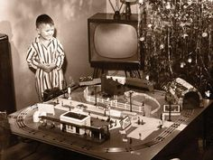 It has been said that collecting classic toy trains in the world's greatest hobby. Many of today's collectors received their first toy train set when they were young, often as a Christmas or birthday present. Collectors claim that the Christmas Train, Christmas Past, Christmas Morning, Christmas Cards, Xmas, Christmas Lights, Christmas Ornaments, Vintage Christmas Photos, Vintage Photos