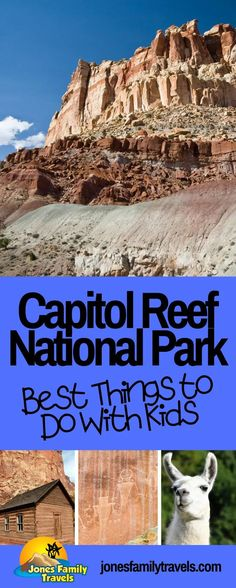 We love the National Park called Capitol Reef. We share the Must Do's at Capitol Reef National Park for families with kids. #nationalparks #capitolreef #nationalpark Capitol Reef National Park, National Parks, Travel With Kids, Family Travel, Adventure Activities, Grand Staircase, Days Out, Park City, Hiking Trails