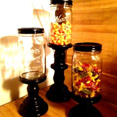 Candle-stick candy jar