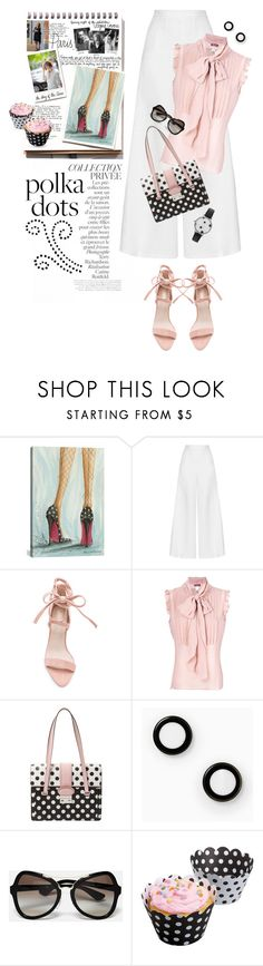 """""""So Dotty: Polka Dots"""" by shortyluv718 ❤ liked on Polyvore featuring By Terry, Garance Doré, iCanvas, Miguelina, RED Valentino, Kate Spade, Prada and PolkaDots"""