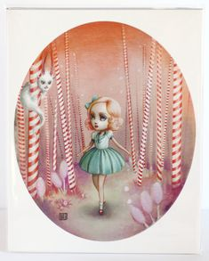 Flavia in the Peppermint Forest  - Limited Edition signed and numbered 8x10  Fine Art Print -unframed via Etsy