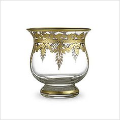 Arte Italica Vetro Gold Candleholder