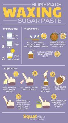 3-Ingredient Homemade Waxing Sugar Paste