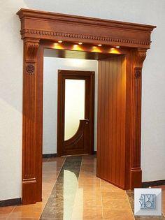 Interior Wood Doors For Sale Wooden Front Door Design, Wooden Arch, House Front Design, Wooden Doors, Pooja Room Door Design, Door Design Interior, Home Room Design, Casa Retro, Entrance Decor