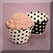 Black / White or Red / White Cupcake Wrappers 5.53/50