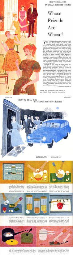 Lorraine Fox | illustration | mid century illustration | mid century illustration | female illustrators | vintage illustration