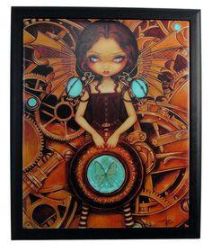 Mechanical Fairy Framed Tile  Price $18.95