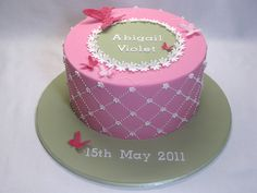 Blossoms and butterflies Christening cake by Creative Cakes by Julie, via Flickr