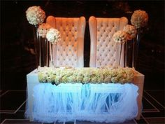 Charming Balmelli Creative Events Weddings  Bride Groom Table Design With Recessed  Florals, LED Lighting And Table Scape Decor.