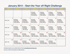 January 2014 Fitness Challenge - Fit and Healthy with Debbie #januarychallenge #fitness #newyearsresolutions