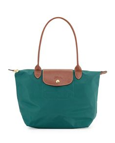 Le+Pliage+Medium+Shoulder+Tote+Bag,+Cedar+by+Longchamp+at+Neiman+Marcus.