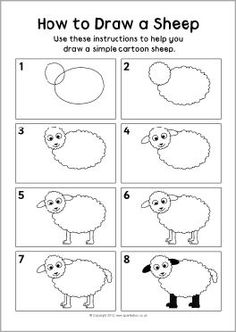 Gewusst wie: Zeichnen Sie ein Schaf-Merkblatt SB8231 SparkleBox 3279