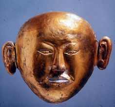 Golden death mask from burial of Princess of Chen and husband c. 1018 CE Qinglongshan Inner Mongolia. [1932x1793]