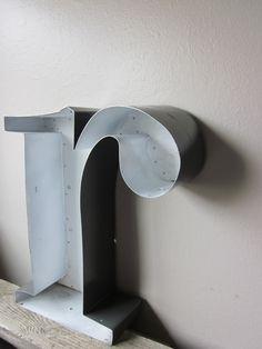 Large Metal Letter R Large Metal Letter R And L Vintage Sign Letters Orange Letter Wall