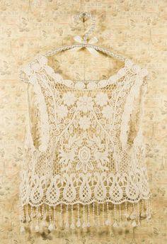#Chicwish Vintage Crochet Vest - Tops - Retro, Indie and Unique Fashion