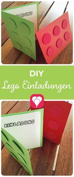 Eine passende Lego-Einladung ist für die Mottoparty zum Kindergeburtstag kannst Du schnell selbstmachen. Auf  blog.balloonas.com zeigen wir Dir, wie es geht! Schau doch mal vorbei und entdecke unsere vielen Ideen von Einladungen, über Dekoration und Spiele, bis zu Mitgebseln und Essen für Deinen Kindergeburtstag! blog.balloonas.com #balloonas #kindergeburtstag #lego #motto #mottoparty #einladung #invitation